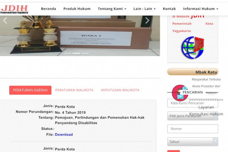 """Yogyakarta membuka layanan konsultasi hukum daring melalui """"Mbak Ratu"""""""