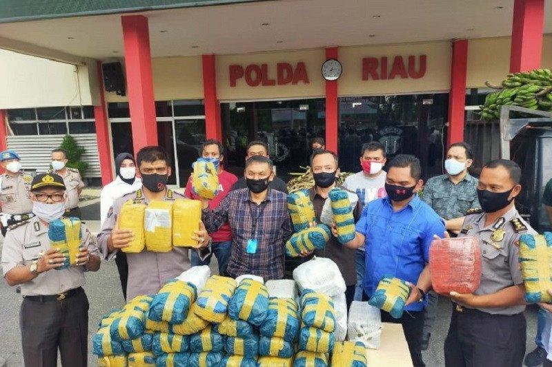100 kilogram ganja asal Aceh tertahan di Riau