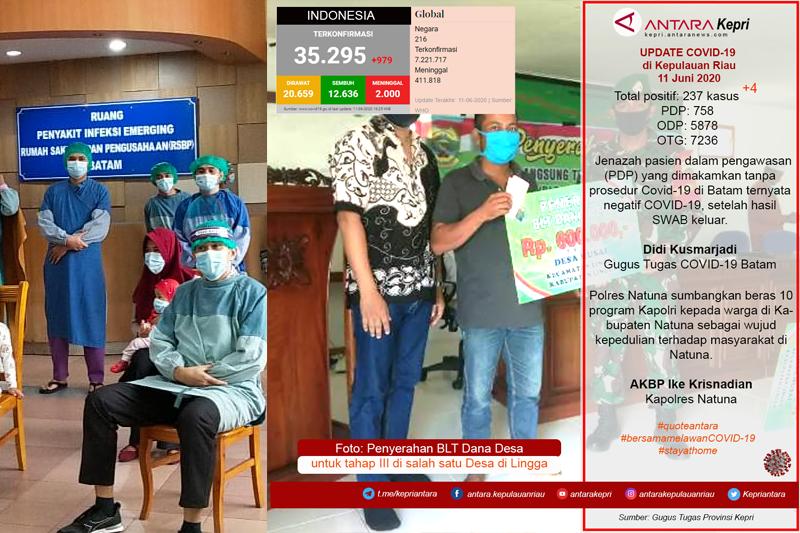 Update COVID-19 di Provinsi Kepulauan Riau Kamis (11/06)