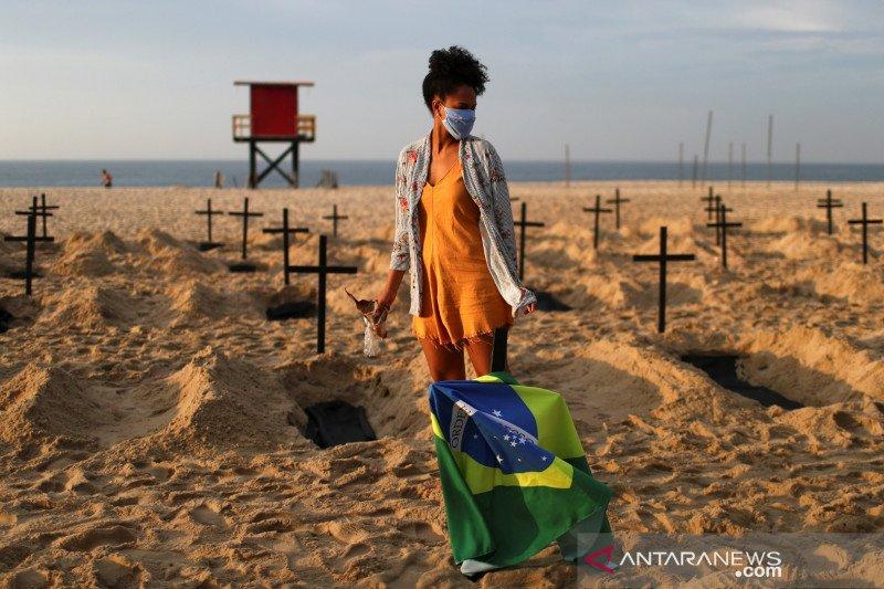 Brazil laporkan 21.704 kasus baru COVID-19 dalam 24 jam