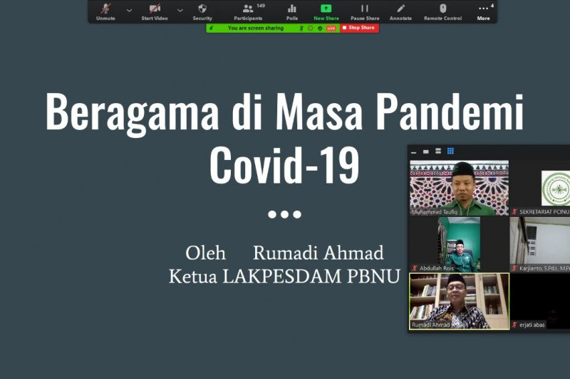 PCINU bahas dampak COVID-19 di Indonesia - Malaysia