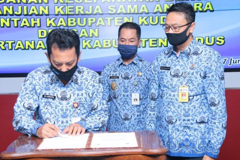 Pemerintah Kudus dengan BPN tanda tangani MoU untuk optimalisasi pajak