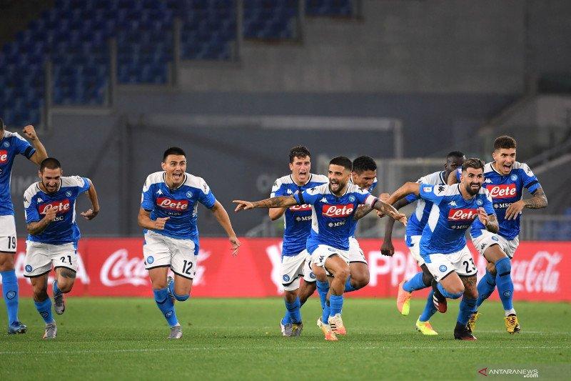 Menang adu penalti atas Juventus, Napoli juara Piala Italia