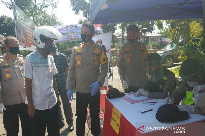 Polres Subang peringati Hari Bhayangkara dengan kegiatan tes cepat corona