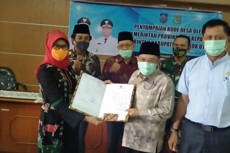 10 desa persiapan di Lombok Utara resmi terima kode desa
