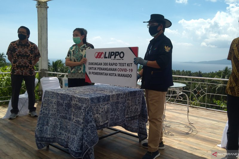 Lippo Karawaci TBK Berikan Bantuan 300 Alat Rapid Test Bagi Pemkot Manado