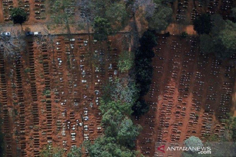 Hanya dalam 24 jam Brazil catat rekor baru COVID-19 sebanyak 42.725 kasus