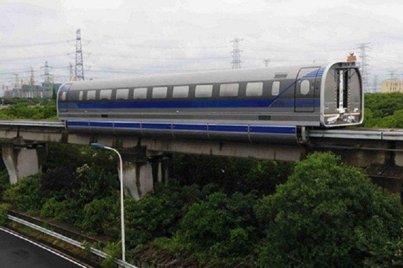 China sukses uji  kereta api  maglev berkecepatan 600 kilometer/jam