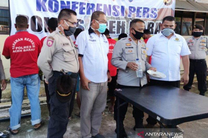 Polisi tangkap tujuh orang penambang emas ilegal di pedalaman Aceh Barat