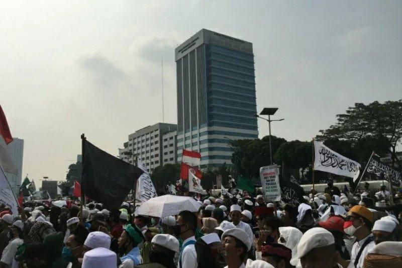 Demo RUU HIP padat, Jalan Gatot Subroto ditutup