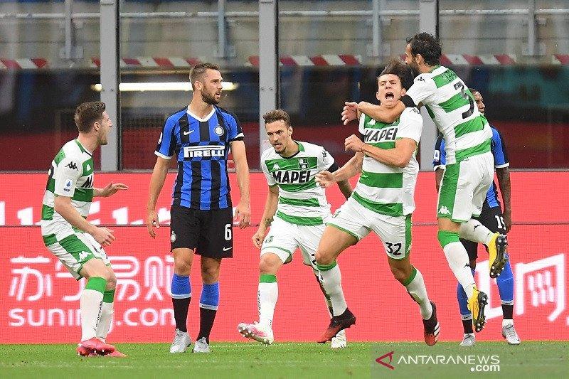 Inter gagal raih poin penuh ditahan imbang tamunya Sassuolo