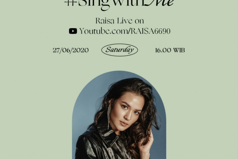 Raisa ajak penggemar memilih lagu di konser virtual 'Sing With Me'