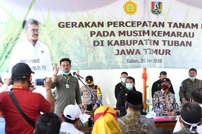 Menteri Pertanian : Jangan ada lahan menganggur di daerah