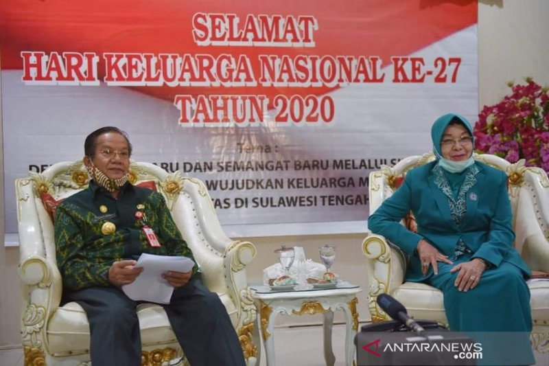 Gubernur Sulteng  ajak warga terapkan delapan fungsi keluarga