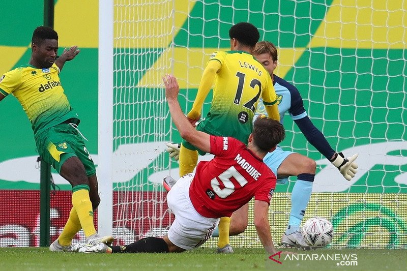 MU butuh babak tambahan untuk atasi 10 pemain Norwich
