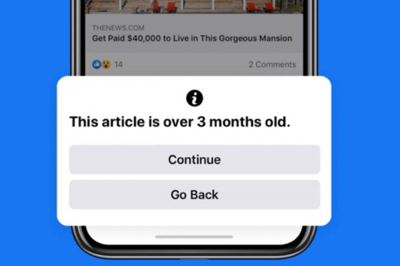 Facebook peringatkan pengguna sebelum unggah artikel berita lama