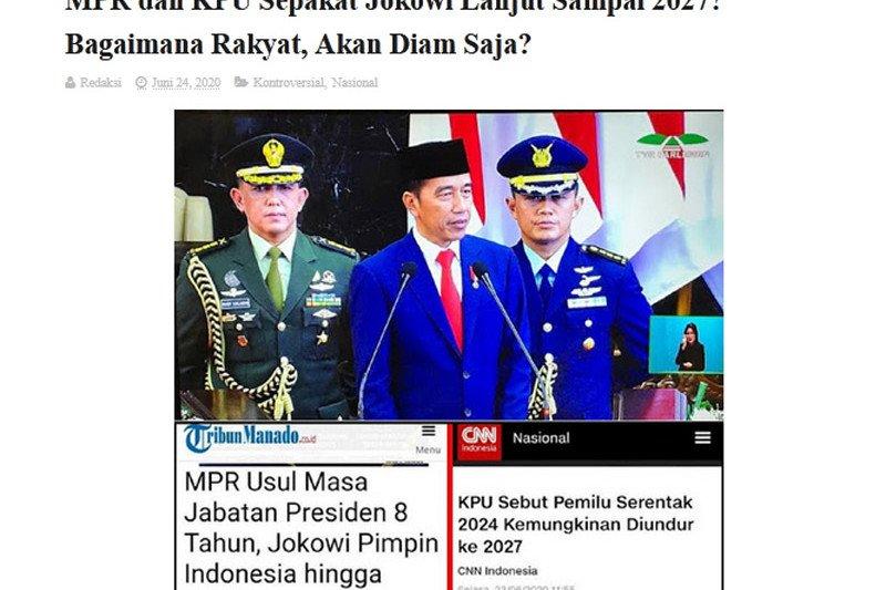 Benarkah MPR-KPU sepakati jabatan Jokowi sampai 2027 ?