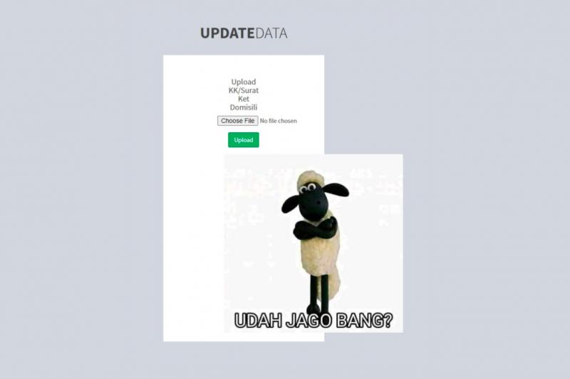 Sempat diretas, muncul gambar shaun the sheep di website PPDB SMA Sumbar pada Senin sore
