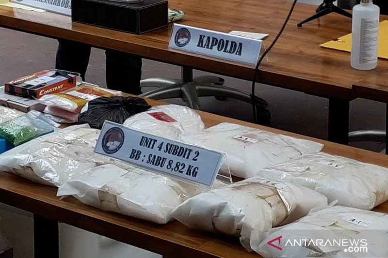 Polda Metro Jaya sita 11,82 kilogram sabu dari empat pengedar