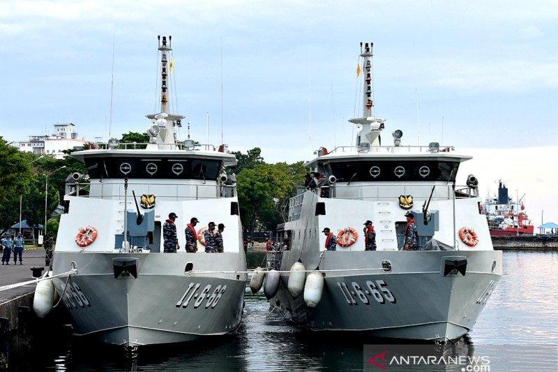 Dua Kapal Angkatan Laut  baru perkuat patroli di perairan Sulawesi
