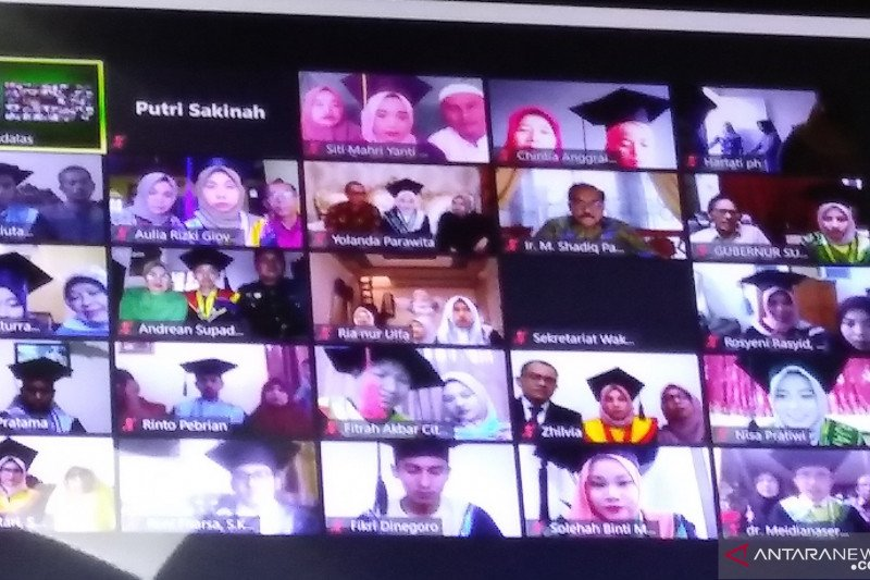 1.103 mahasiswa Universitas Andalas ikuti wisuda daring dari rumah masing-masing