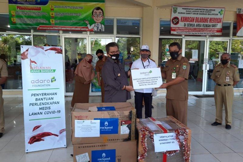 PT Adaro assists Balangan with ventilator, hazmat