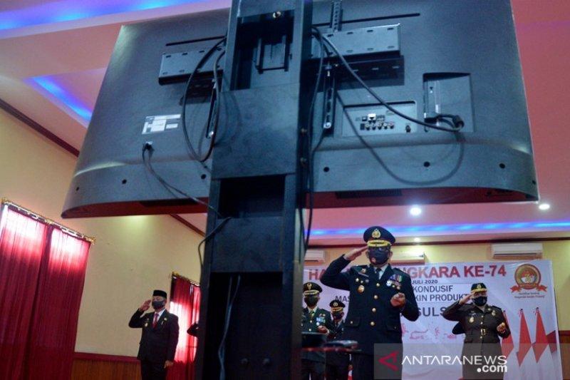 Upacara virtual  memperingati HUT Bhayangkara