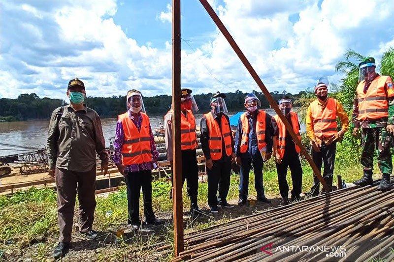 Pembangunan Jembatan Sikan-Tumpung Laung mulai dikerjakan