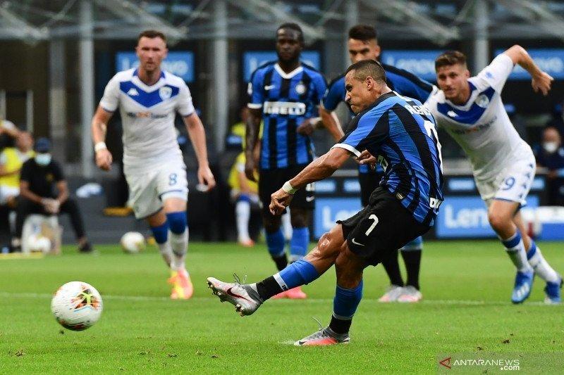 Ashley Young buka keunggulan, saat Inter jamu Brescia enam gol tanpa balas