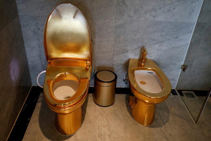 Mewahnya hotel di Hanoi, hingga bak mandi dan toilet pun berlapis emas