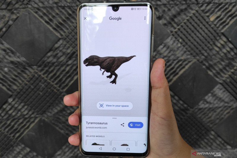 Cara lihat dinosaurus lewat Google Search