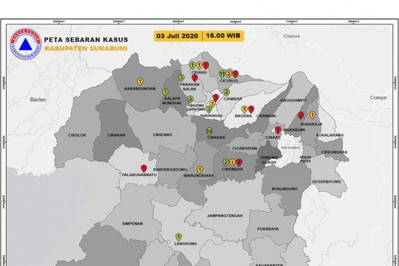 Pasien positif COVID-19 di Kabupaten Sukabumi bertambah