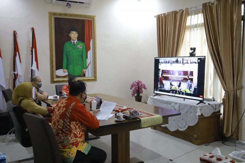 Bupati Winarti ikuti rakor pengawasan dan penanganan COVID-19 dengan BPKP Lampung
