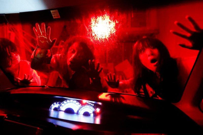 Rumah hantu dengan konsep 'drive-in' di Tokyo tanpa khawatir virus Corona