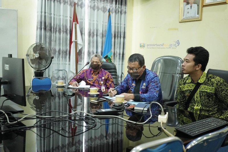 Pesisir Barat ikuti rakor penyampaian hasil pengawasan percepatan penanganan COVID-19 Provinsi Lampung