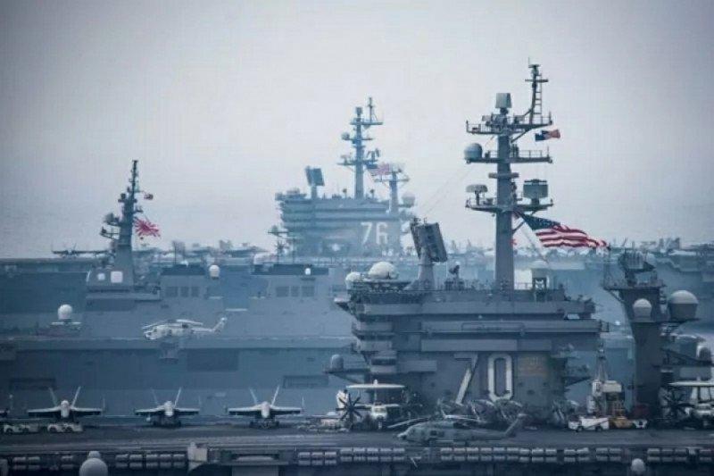 China gelar latihan,  AS kirim kapal induk ke Laut China Selatan