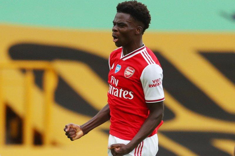 Bukayo Saka kenang selamanya gol pertamanya untuk Arsenal