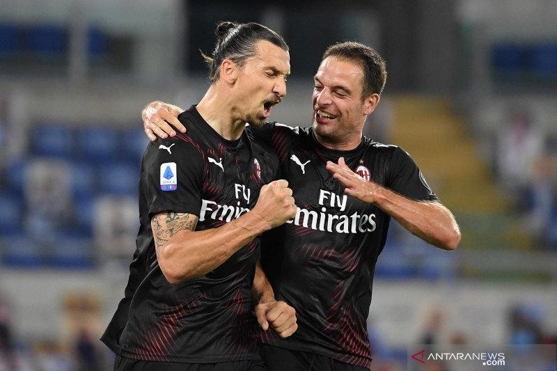 Gol Ibra bantu Milan perpanjang catatan positif di era pandemi