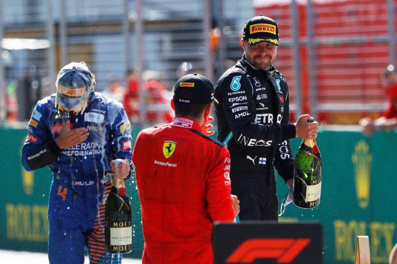 Valtteri Bottas juara seri pembuka F1 Austria, drama penalti Hamilton