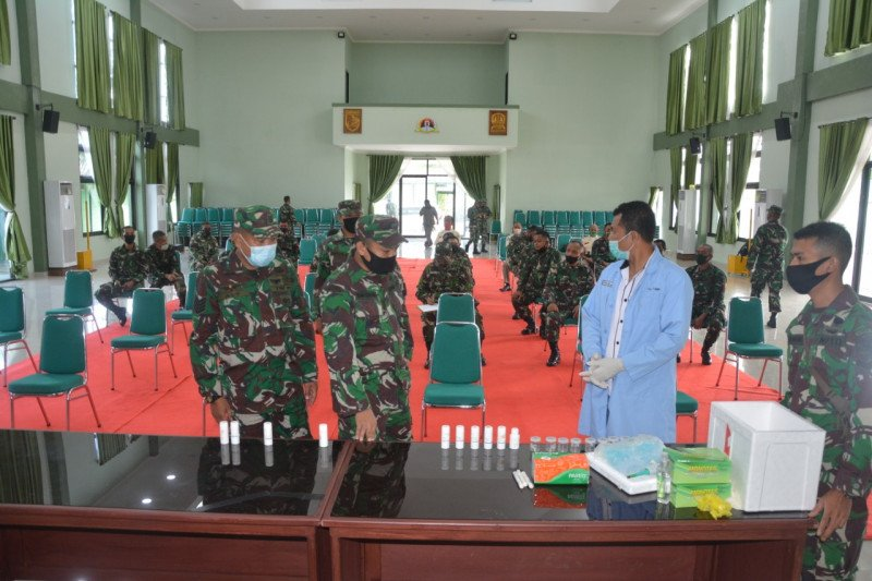 Kegiatan P4GN wajibkan personel Korem 173/PVB Biak periksa urine