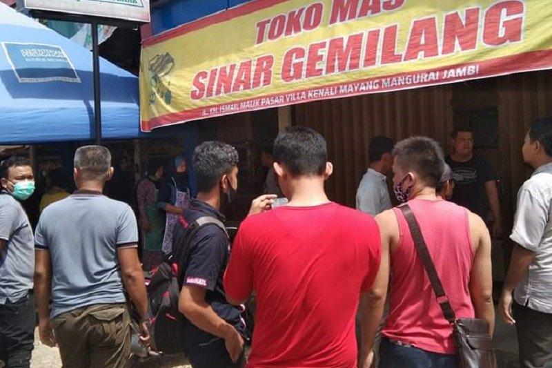 Perampok berpistol menjarah toko emas di Pasar Villa Kenali Jambi