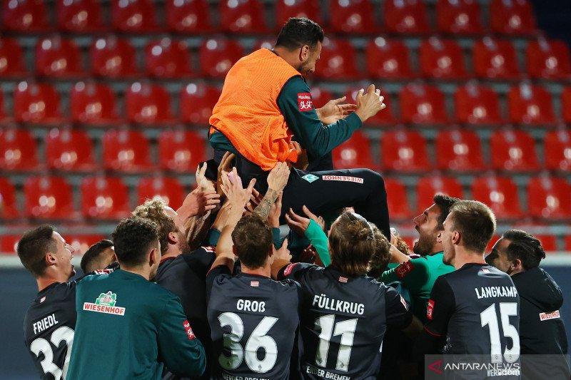 Werder Bremen pertahankan posisi di kompetisi strata teratas Bundesliga Jerman