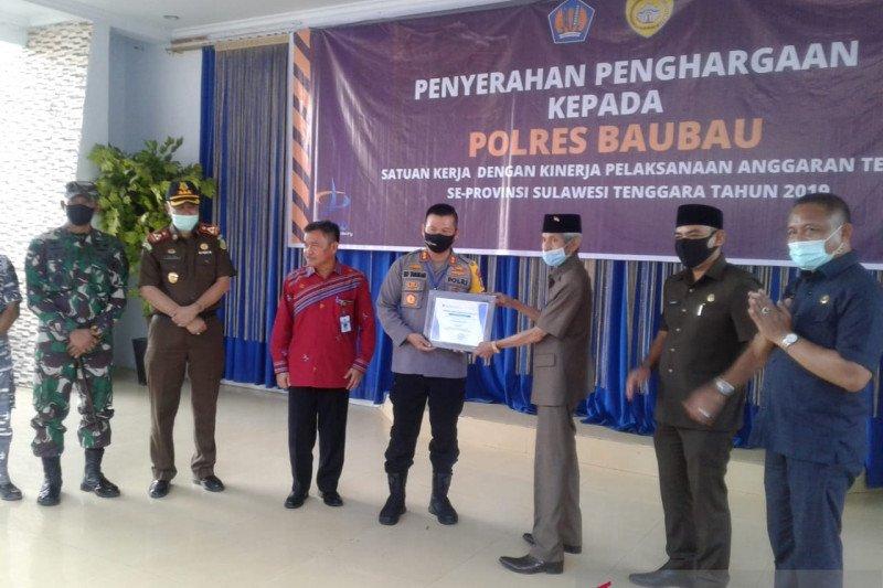 Polres Baubau raih penghargaan peringkat pertama pelaksanaan anggaran terbaik se-Sultra
