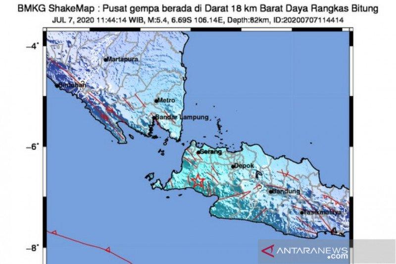 Gempa Lebak magnitudo 5,4 akibat subduksi lempeng Indo-Australia