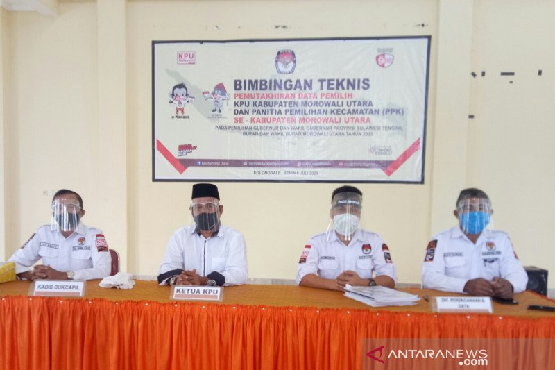 Anggota PPK Morowali Utara ikut bimbingan teknis persiapan pilkada