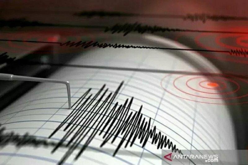 Gempa magnitudo 5,0 guncang Selatan Jawa