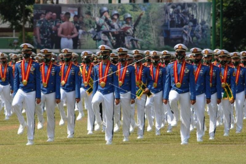 Upacara Militer Wisuda  Akmil Dengan Protokol Kesehatan
