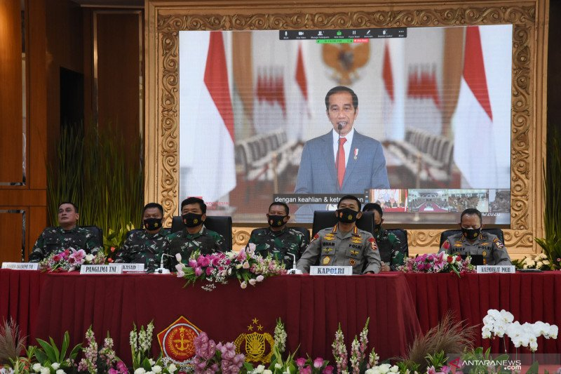 Presiden melantik perwira TNI-Polri 2020 di Istana Negara