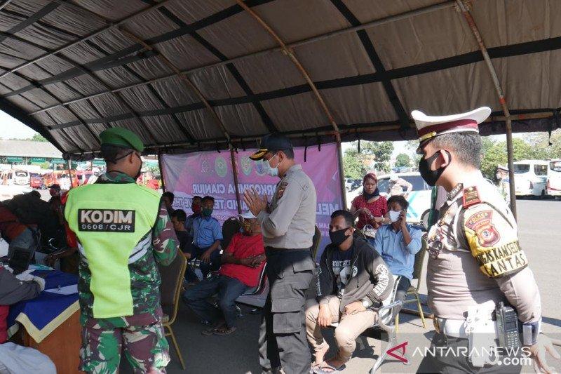 Hasil tes cepat di terminal Cianjur 100 persen nonreaktif