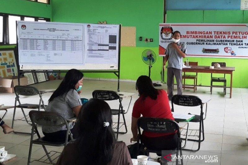 Ikuti protokol COVID-19, KPU Gumas gelar bimtek PPDP per kecamatan